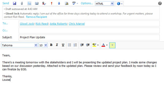 Set Up Your Out Of Office Notification In Outlook Web App Dummies