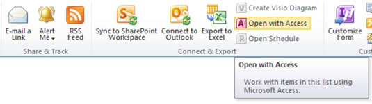 Export an Access Table to a SharePoint Online List - dummies