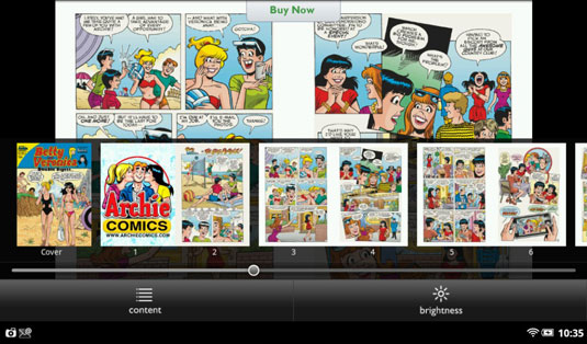 Betty and Veronica never looked so good as they do in NOOK comics.