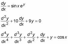 Multiple differential equations.