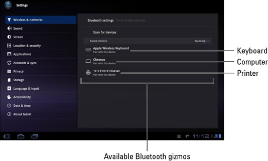 how to connect your samsung galaxy tab using bluetooth dummies