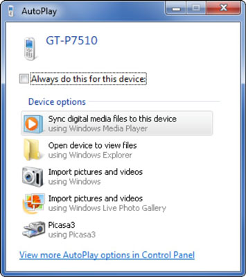How to Transfer Files to the Samsung Galaxy Tab from Your PC - dummies