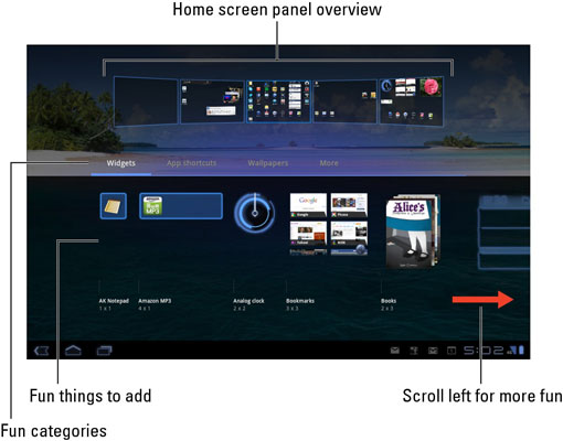How To Put New Wallpaper On The Galaxy Tab Home Screen Dummies