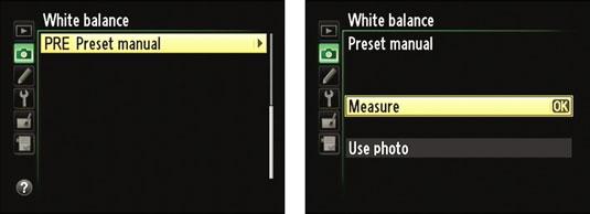 how to create white balance presets on a nikon d5100 dummies rh dummies com Best White Balance Fluorescent White Balance