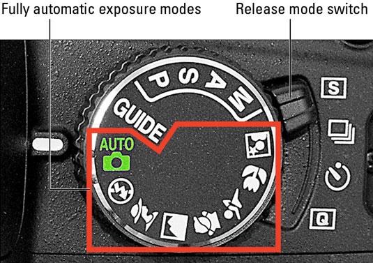 The Nikon D3100 mode dial explained.