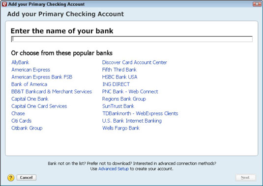 How to Describe Your Banking to Quicken 2012 - dummies