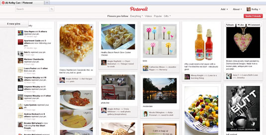 Invite Friends button on Pinterest.