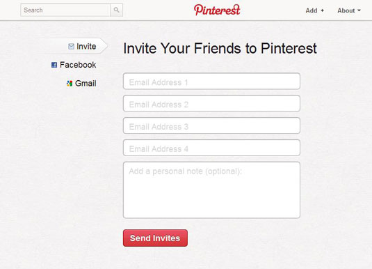 How to Invite a Friend to Join Pinterest - dummies