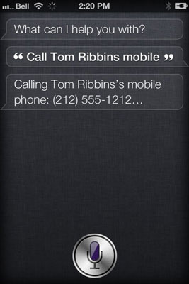 Specify which telephone number Siri should dial.