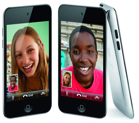FaceTime can be done between multiple Apple products. Here are iPod touch devices.