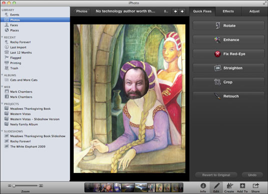 How to Edit Images in iPhoto on Your MacBook - dummies