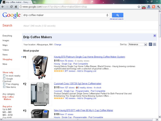 To appear in Google Product Search (called Shopping in the left navigation), merchants submit their