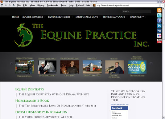 Website for The Equine Practice, Inc. [Credit: © The Equine Practice, Inc]