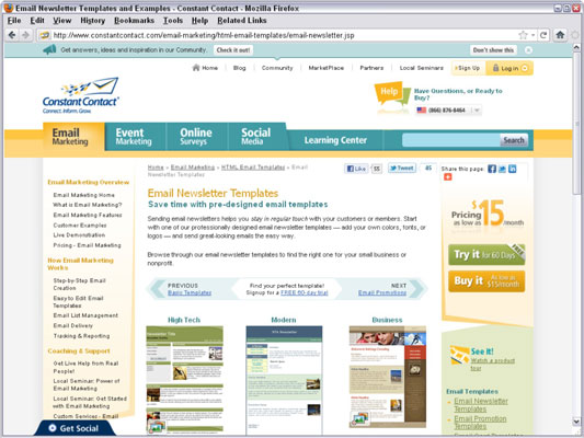 Constant Contact offers one-stop, template-based newsletters, list management, and distribution. [C