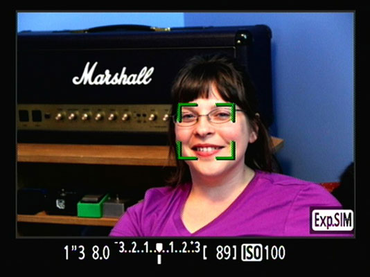 Live Mode Face Detection Settings on a Canon EOS 60D - dummies