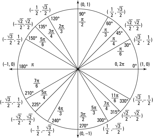 The pre-calculus unit circle