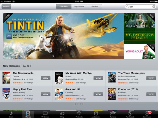 You can spend hours watching movies on the iPad.