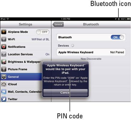 iPad Settings: Bluetooth - dummies