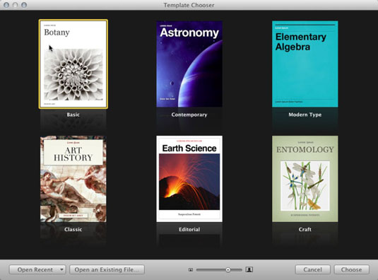 How to Set a Default Template in iBooks Author - dummies