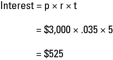 how to calculate simple and compound interest dummies