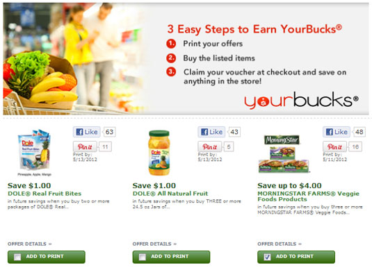 Online coupon site YourBucks.