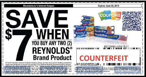 A fraudulent coupon.