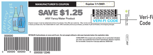 You can use a coupon's veri-fi code to check its veracity.