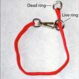The floating ring is the live ring and the stationary ring is the dead ring on a nylon snap-around training collar.