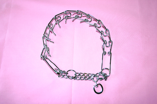 A pinch collar is an effective piece of training equipment.