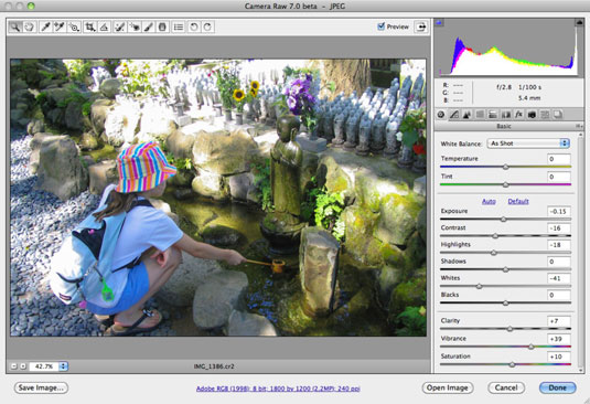 How to Use the Camera Raw Format in Photoshop CS6 - dummies