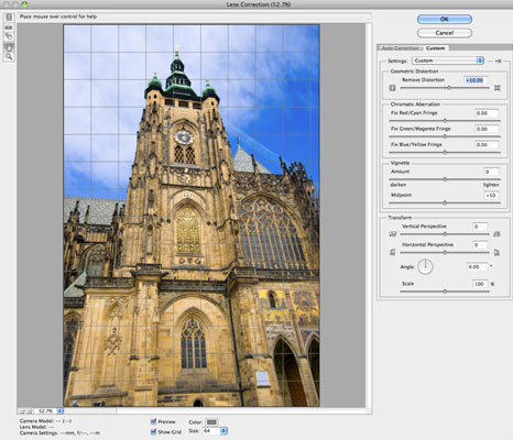 How to Use the Lens Correction Filter in Photoshop CS6 - dummies