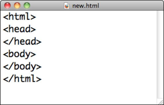 Creating HTML with TextEdit on a Mac.