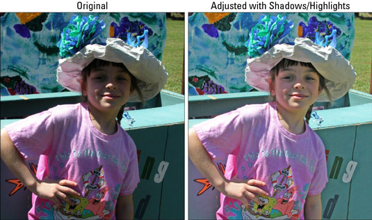 How To Fix Lighting With Shadows And Highlights In Photo