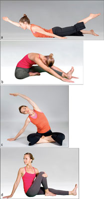 Four basic yoga poses.