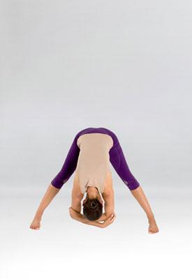 Standing spread-legged forward bend
