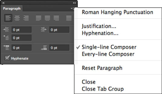 How to format paragraphs in photoshop cs6 dummies you access to justification and hyphenation dialog boxes you can use these to customize the default settings that photoshop uses for these functions ccuart Image collections