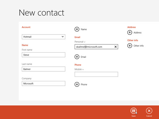 4Click Delete to delete the contact or click Edit to update a contact's  information. Then click Save.