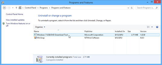 add or remove programs in windows 8 dummies