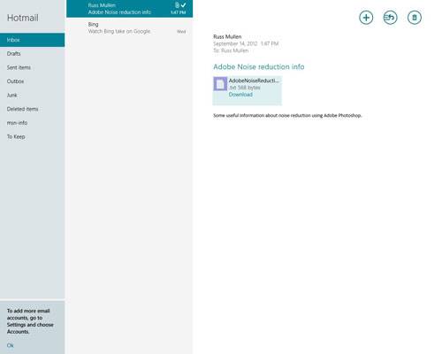 How to Save Attachments with the Windows 8 Mail App - dummies