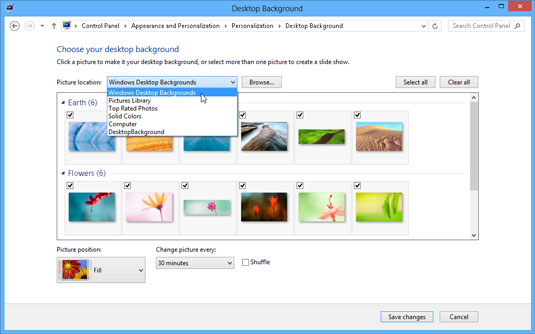 How To Change The Windows 8 Desktops Background Dummies