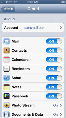 How to Use iCloud on Your iPhone 5 - dummies
