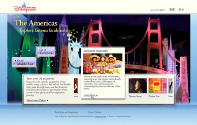 A user rollover expands this content module on a Disney website to reveal more information. [Credit