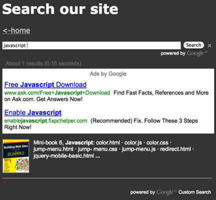 How to Set Up a Search Box on Your Website - dummies