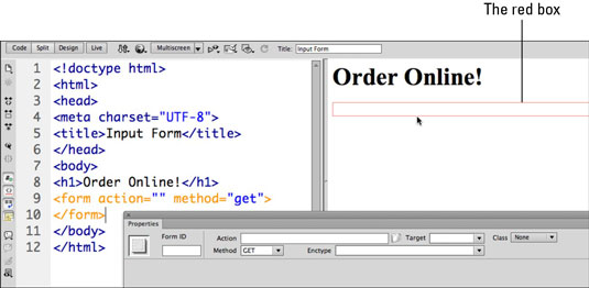 How to Create a Form in Dreamweaver - dummies