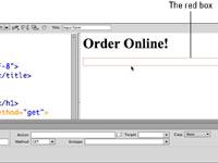 Embedding a form in Dreamweaver.