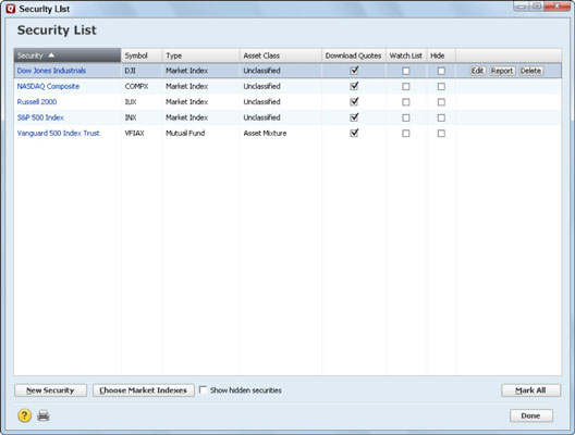 How To Set Up Security Lists In Quicken 2013 Dummies