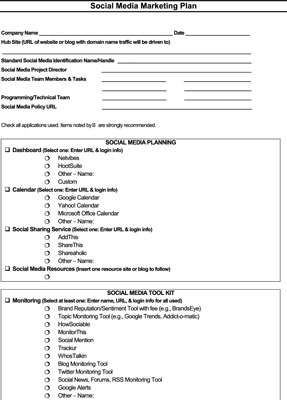 How To Set Up Your Social Media Marketing Plan Dummies - Social media marketing schedule template