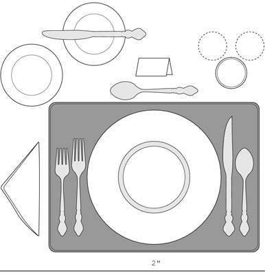 An informal place setting can add style to your dinner party.