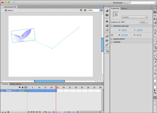 How to Create a Motion Tween in Adobe Flash CS6 - dummies