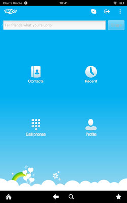 Make Calls with Skype from Your Kindle Fire HD - dummies